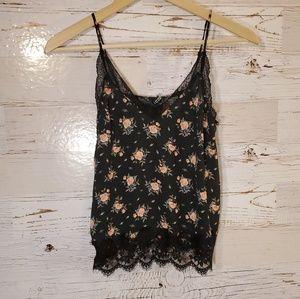 H&M floral lace tank top
